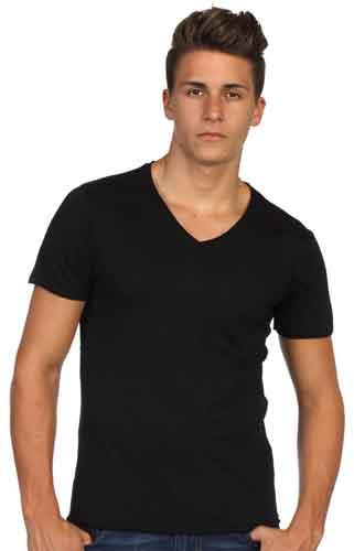 toptan v yaka tişört imalatı
